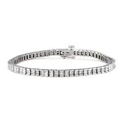 14k White Gold 7ct TDW Princess-cut Diamond Tennis Bracelet (H-I, I1)