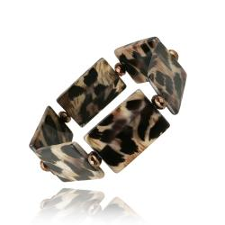 Glitzy Rocks Leopard Stretch Bracelet