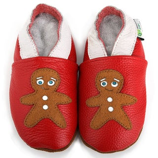Gingerbread Cookie Soft Sole Leather Baby Shoes