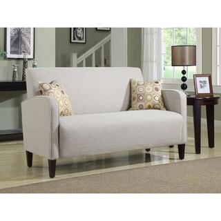Portfolio Gabi Khaki Sand Linen Apartment-size Sofa
