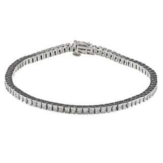 14k White Gold 5ct TDW IGL Certified Princess-cut Diamond Tennis Bracelet (H-I, I1)