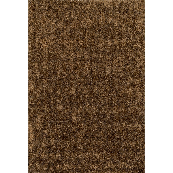 Caldera Hand-tufted Brown Shag Rug (7'9 x 9'9)