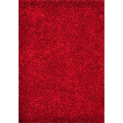 Caldera Hand-tufted Red Shag Rug (5' x 7'6)