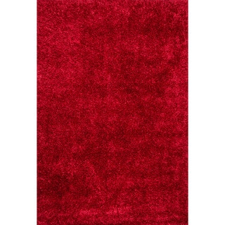 Caldera Hand-tufted Red Shag Rug (3'6 x 5'6)