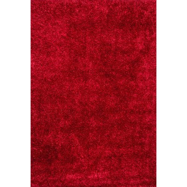 Caldera Hand-tufted Red Shag Rug (7'9 x 9'9)