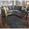 Hand Tufted Caldera Charcoal Area Rug (3'6 x 5'6)