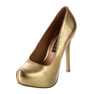 Steve Madden Women's 'Prosprus' Gold Metallic Platform Pumps