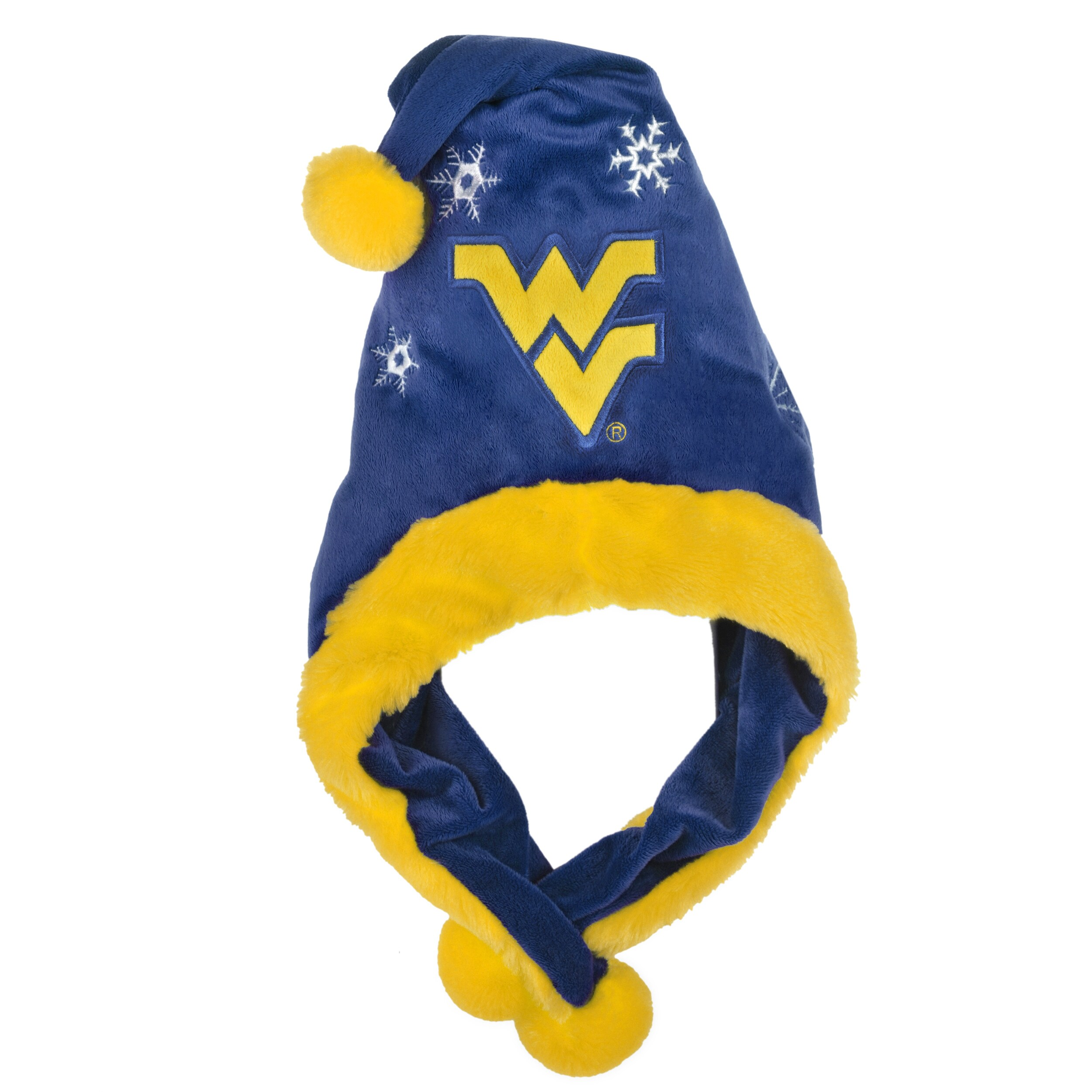 West Virginia Mountaineers Thematic Santa Hat