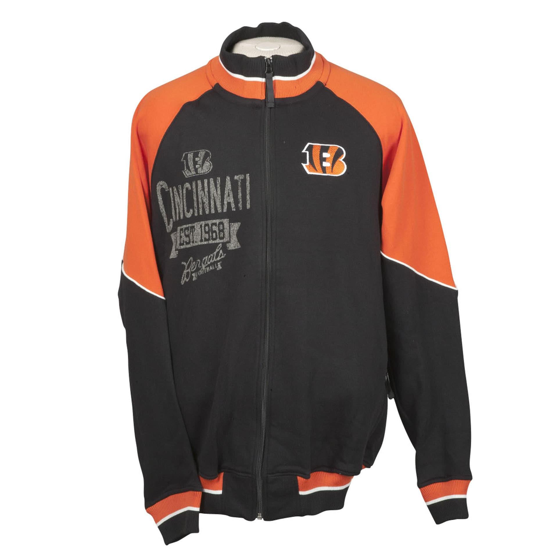 Cincinnati Bengals Full Zip Cotton Track Jacket