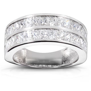 Annello 14k White Gold 2 1/2ct TDW Diamond Band (F-G, VS1-VS2)