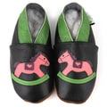 Rocking Horse Soft Sole Non-Slip Leather Baby Shoes