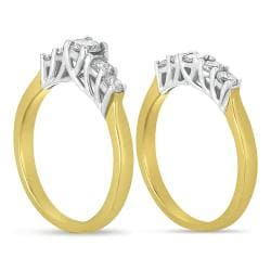 14k Two-Tone Gold 1ct TDW Diamond Bridal Ring Set (G-H, I1)