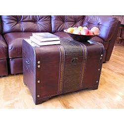 Old Fashioned Large Wood Storage Chest
