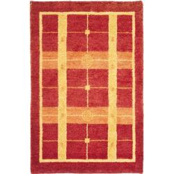 Hand-knotted Gabeh Moonfest Rust Wool Rug (3' x 5')