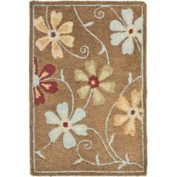 Safavieh Handmade Blossom Camel Wool Rug (2' x 3')