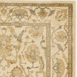 Oushak Oriental Cream/Cream Powerloomed Rug (4' x 5'7)