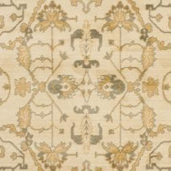 Oushak Cream/ Cream Powerloomed Rug (5'3 x 7'6)