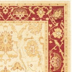 Safavieh Oushak Cream/ Red Powerloomed Indoor Rug (5'3 x 7'6)