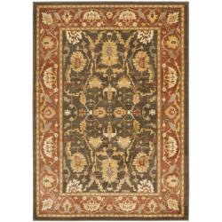 Oushak Traditional Brown/Rust Powerloomed Rug (4' x 5'7)