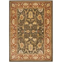 "Oushak Brown/Rust Powerloomed Area Rug (5'3"" x 7'6"")"