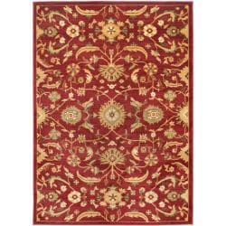 """Safavieh Traditional Oushak Red/Gold Power-Loomed Rug (5'3"""" x 7'6"""")"""
