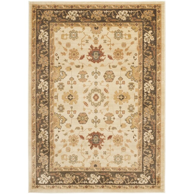 "Safavieh Traditional Oushak Cream/Brown Powerloomed Rug (4' x 5'7"")"