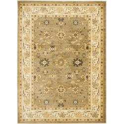Safavieh Oushak Green/ Cream Powerloomed Rug (5'3 x 7'6)