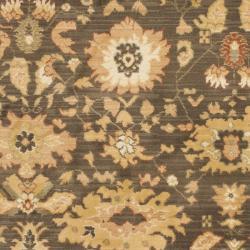 Oushak Brown/ Rust Powerloomed Rug (5'3 x 7'6)