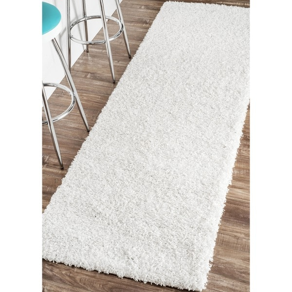 nuLOOM Alexa My Soft and Plush Shag Runner (2'8 x 8')