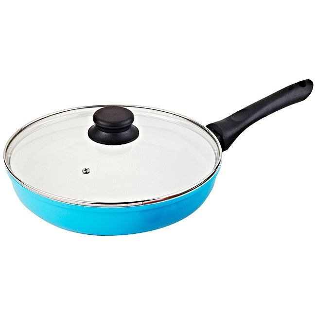 Vinaroz Blue Ceramic Coated 11-inch Frying Pan