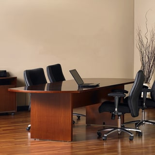 Mayline Stella Toffee Boat Shaped 8-foot Conference Table