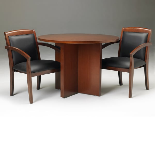 Mayline Stella Toffee 42-inch Round Conference Table