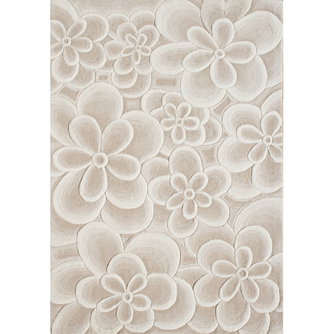 Alliyah Handmade Bleach Tan New Zealand Blend Wool Rug (8'x10')
