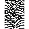 Alliyah Handmade Safari Black New Zealand Blend Wool Rug (5' x 8')