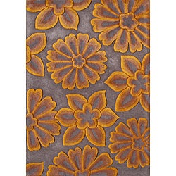 Alliyah Handmade Radiant Yellow New Zealand Blend Wool Rug (5' x 8')