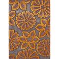 Alliyah Handmade Radiant Yellow New Zealand Blend Wool Rug (5' x 8')