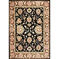 Handmade Black Oriental New Zealand Wool Rug (9' x 12')