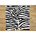 Handmade Tufted Safari Black Wool Rug (6' x 6')