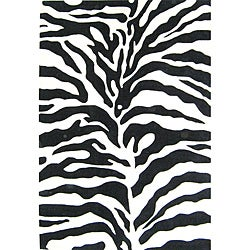 Alliyah Handmade Safari Black New Zealand Blend Wool Rug (8' x 10')
