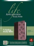 Life Application Study Bible: New Living Translation, Dark Brown / Pink Flowers TuTone, LeatherLike (Paperback)
