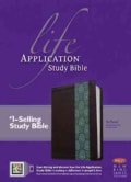 Life Application Study Bible: New King James Version, Dark Brown / Teal TuTone, LeatherLike (Paperback)