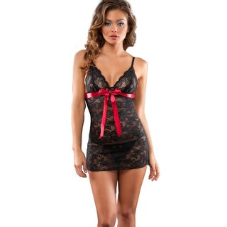 Oh la la Cheri Lace-up Babydoll and G-string Set