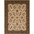 Powerloomed Beige/ Charcoal Rug (7'7 x 10'5)