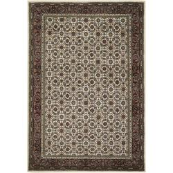 Mandara Hand-knotted Traditional Bordered Wool Rug (7'9 x 10'6)