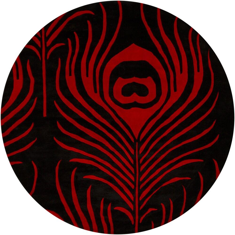 Hand-tufted Mandara Feather New Zealand Wool Rug (7' Round)