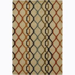 Hand-tufted Mandara New Zealand Wool Rug (7'9 x 10'6)