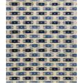 Hand-Tufted White/Blue Mandara New Zealand Wool Rug (5' x 7'6)