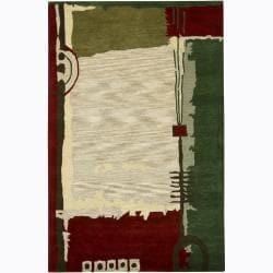 Hand-tufted Mandara Abstract New Zealand Wool Rug (7'9 x 10'6)