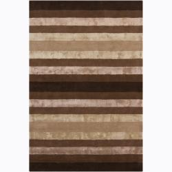 Hand-Tufted Mandara Stripe Pattern Rug (7'9 x 10'6)