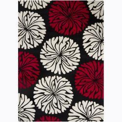 Hand-Tufted Mandara Rectangular Wool Rug (5' x 7')